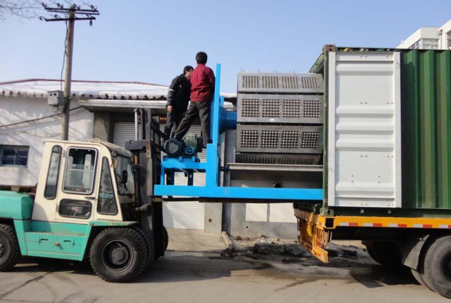 ZMZ22/48 rotary egg tray machine load to Turkey