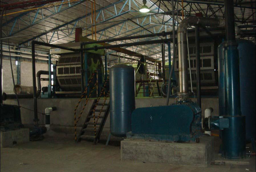 ZMZ20/64 rotary egg tray machine send to Kazakhstan